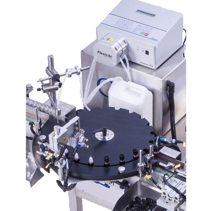 monobloc remplissage vissage étiquetage automatique machine ultra compacte e-fill cda usa