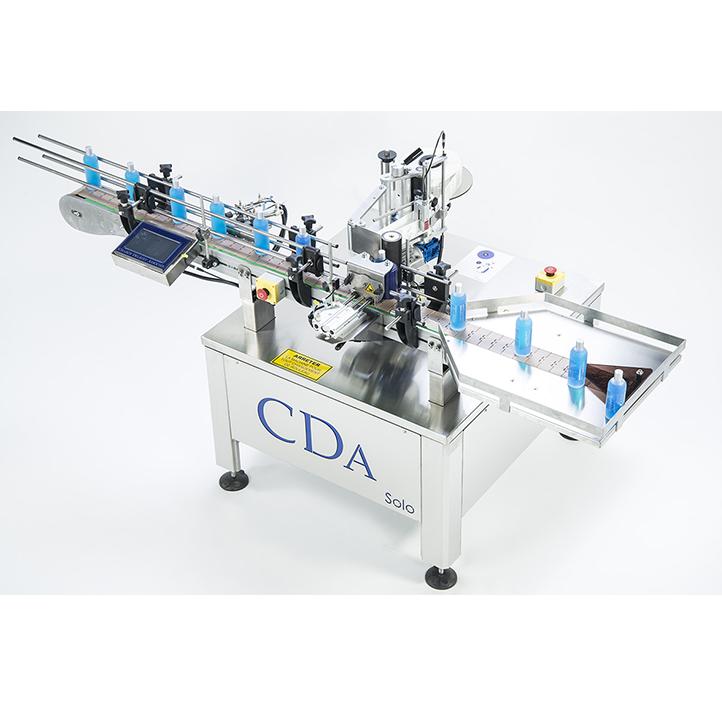 adhesive labeling machine cylindrical product range solo cda usa