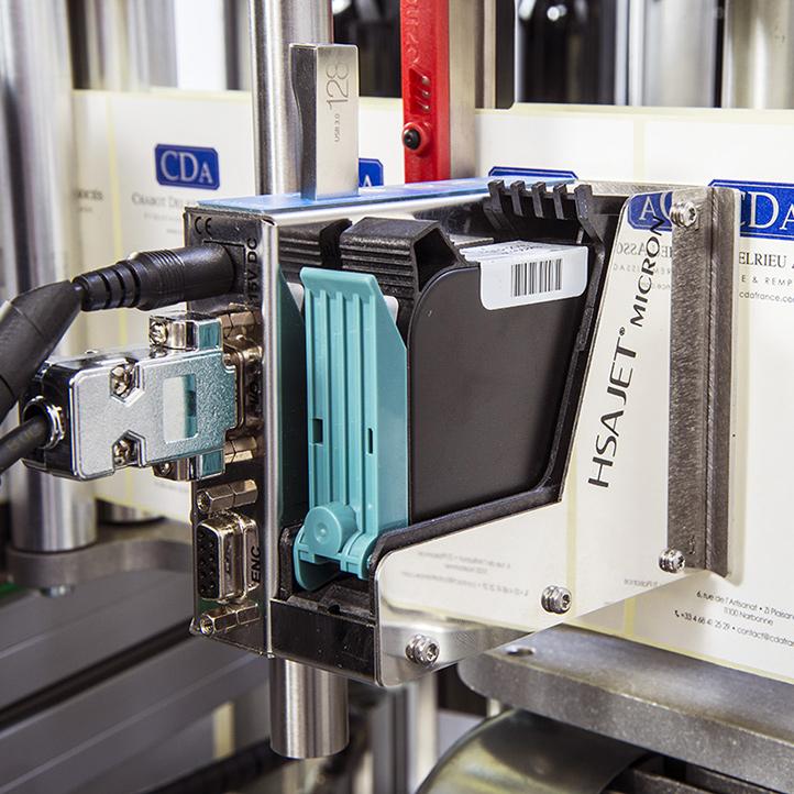 Impression jet d'encre HSA marquage étiquettes