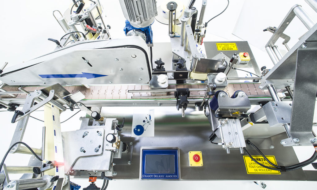 Ninon Mix, CDA's automatic bottle labeling machine