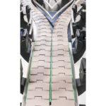 diseño de integración del transportador de cinta con curvas cda usa