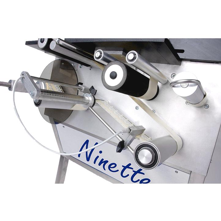 étiqueteuse semi-automatique contenant rectangulaire carré ninette à plat cda usa