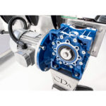 adhesive labeling machine with double conveyor ninon by pass cda usa