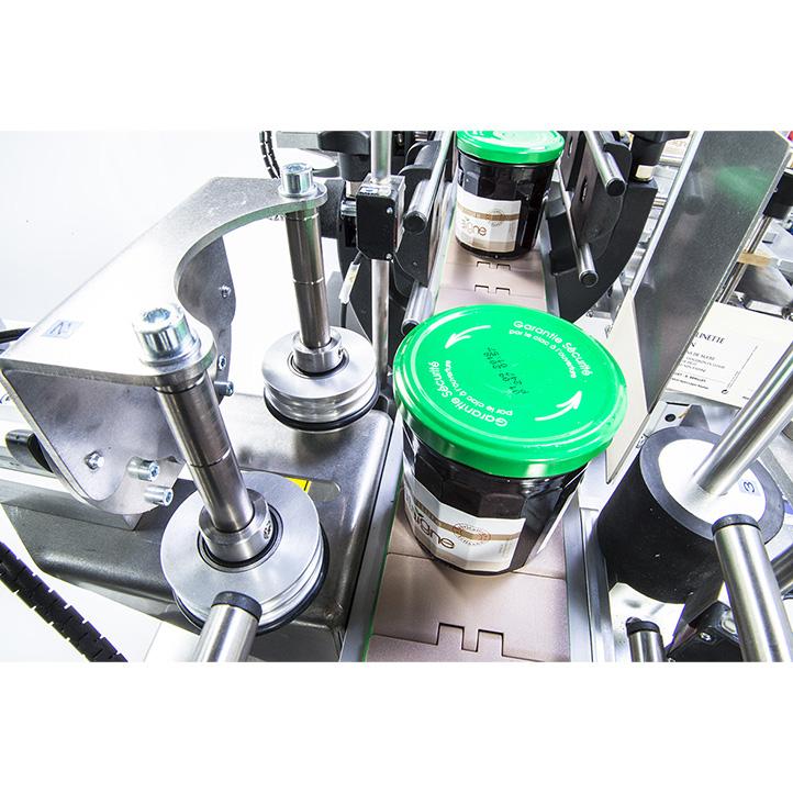 équipement automatique étiquetage adhésif produit conique ninon konic cda usa