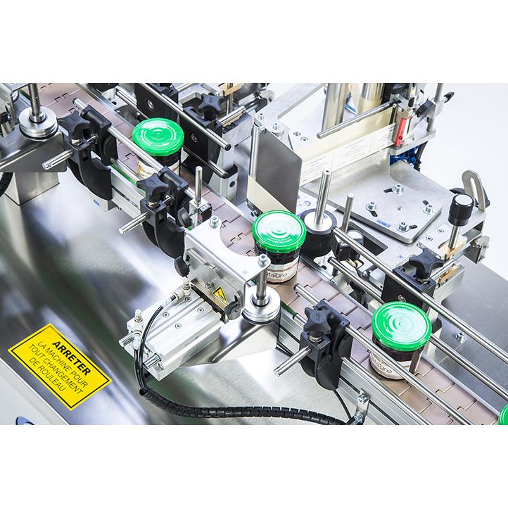 machine d'étiquetage adhésif pour pot bouteille conique ninon konic cda usa