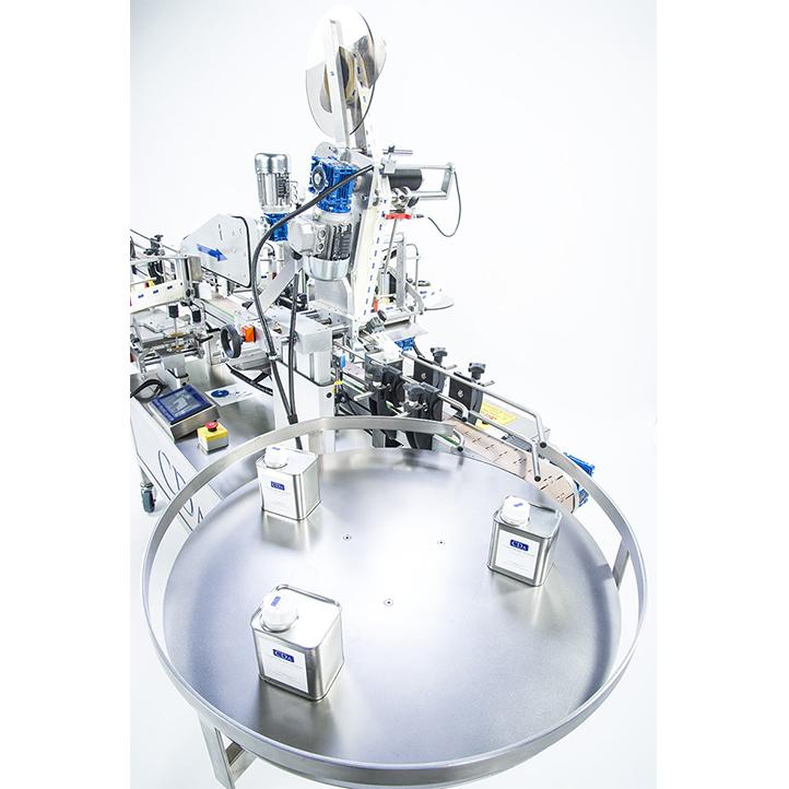 machine d'étiquetage automatique pot conserve bouteille flacon toute forme ninon mix cda usa