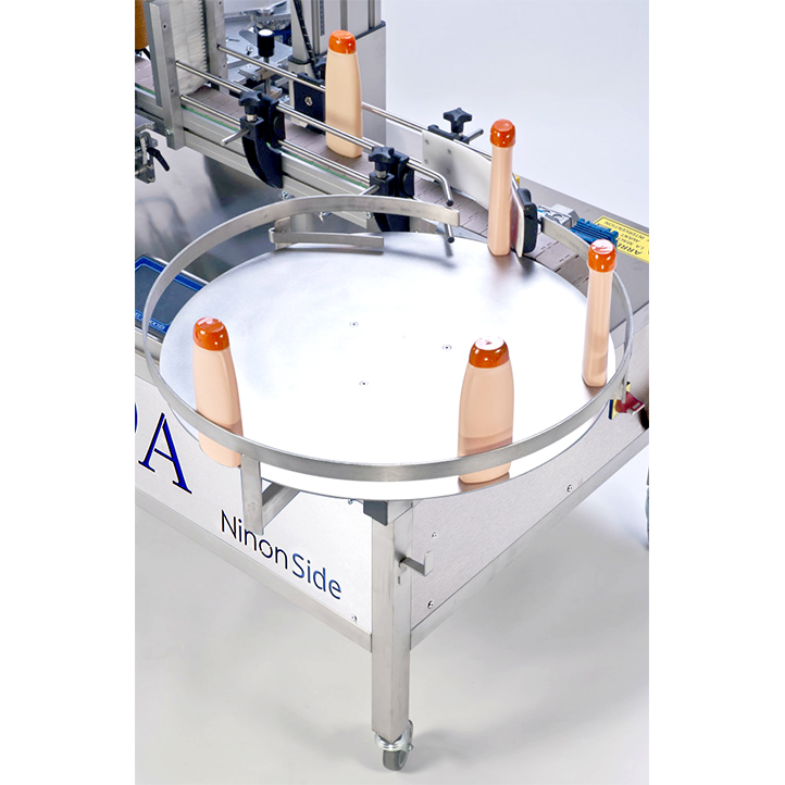 labeling machine for applying self-adhesive labels on the side of the product ninon side cda usa