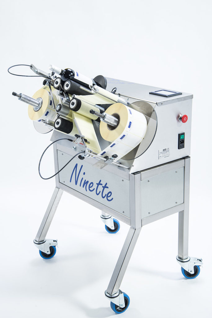 ninette 2 CDA multi-purpose semi-automatic labeling machine