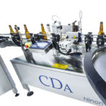 automatic labeler for glass bottle 33cl 75cl b1500 cda usa