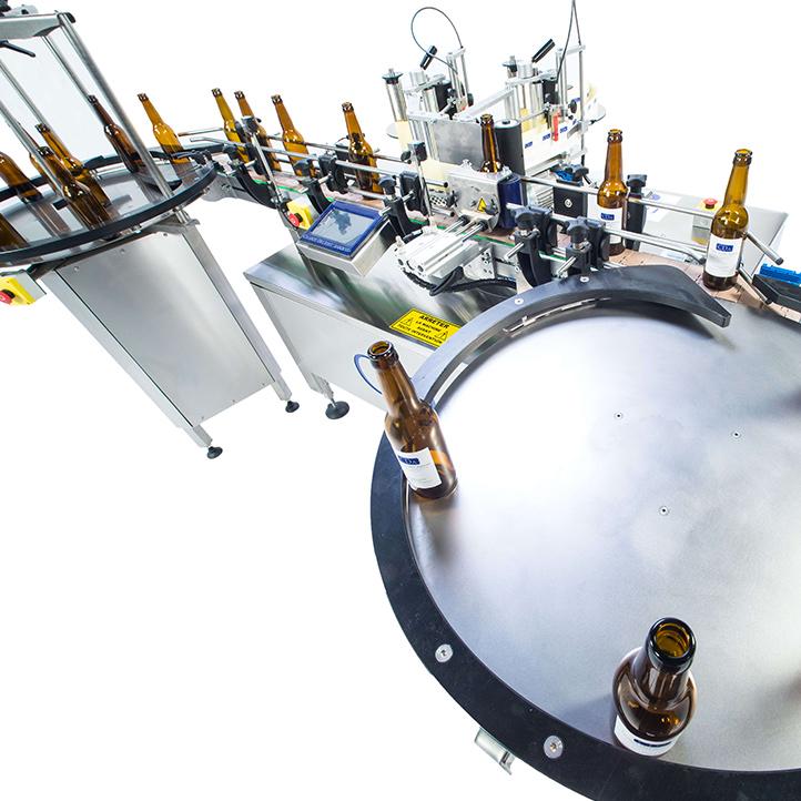 machine d'étiquetage adhésif automatique bouteille de bière b1500 cda usa
